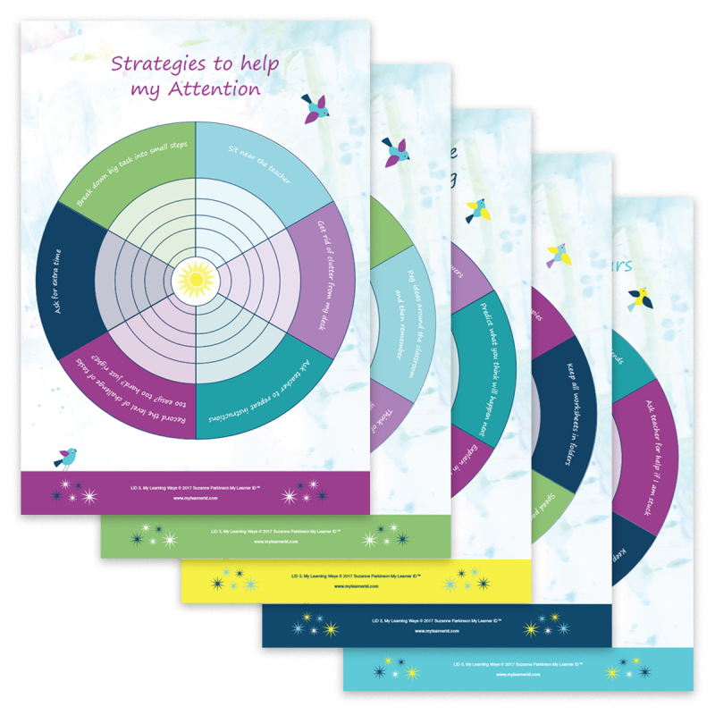 LID 3 Set of Classroom Strategy Wheel Posters